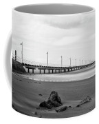 Black And White Image Of Shorncliffe Pier Coffee Mug