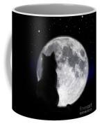 Black Cat And Full Moon Coffee Mug