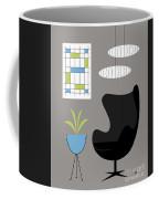 Black Egg Chair Coffee Mug
