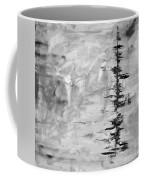 Black Gray Abstract Coffee Mug
