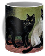 Black Manx And Siamese Cats Coffee Mug