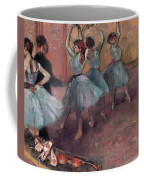 Blue Dancers Coffee Mug by Edgar Degas