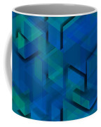 Blue Geometric Composition 1 Coffee Mug