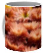 Blurred Seasonal Flowers With Yellow Background Coffee Mug