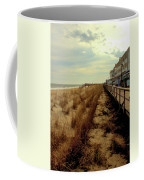 Boardwalk In Winter Coffee Mug