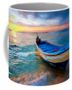 Boat On Beach Coffee Mug