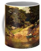 Boating In Central Park Edward Henry Potthast Coffee Mug