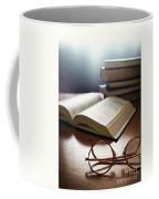 Books And Glasses Coffee Mug