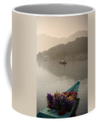 Bouquet Of Flowers In Bow Of Boat Dal Coffee Mug