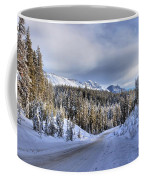 Bow Valley Parkway Winter Conditions Coffee Mug