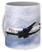 British Airways Airbus A380 Art Coffee Mug