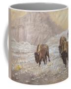 Buffalo Under The Alpenglow Coffee Mug