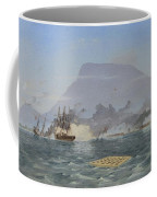 Bulldog Shelling The Forts Coffee Mug