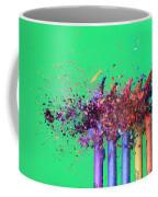 Bullet Hitting Crayons Coffee Mug