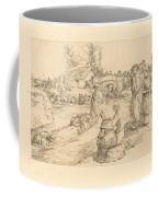 Burial In The Vendeen Marsh (un Enterrement Dans Le Marais Vendeen) Coffee Mug