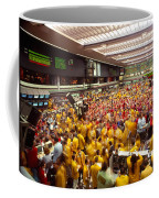 Business Executives On Trading Floor Coffee Mug