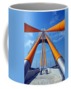 Cable Stayed Bridge With Orange Clad Cables Coffee Mug