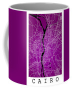 Cairo Street Map - Cairo Egypt Road Map Art On Colored Backgroun Coffee Mug