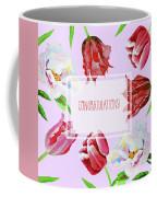 Card With Tulips And Peonies Coffee Mug