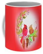 Cardinals Painted By Linda Sue Coffee Mug