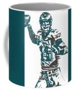 Carson Wentz Philadelphia Eagles Pixel Art 5 Coffee Mug