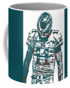 Carson Wentz Philadelphia Eagles Pixel Art 7 Coffee Mug