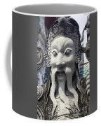 Carved Monk Statue Coffee Mug