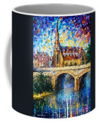 Castle By The River - Palette Knife Oil Painting On Canvas By Leonid Afremov Coffee Mug