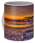 Castles In The Sand 2 Tybee Island Pier Sunrise Coffee Mug