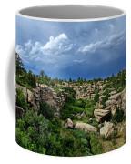 Castlewood Canyon And Rain Coffee Mug