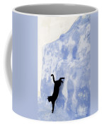 Cat Jumping From A Wall Coffee Mug