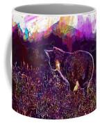 Cat Kitten Mieze Sunset Sun Grass  Coffee Mug