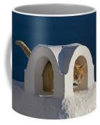 Cat On A Roof, Greece Coffee Mug