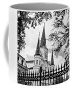 Cathedral Basilica - Square Bw Coffee Mug