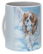Cavalier King Charles Spaniel Blenheim In Snow Coffee Mug by Lee Ann Shepard