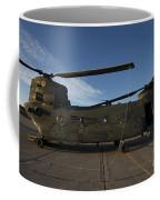 Ch-47 Chinook Helicopter On The Tarmac Coffee Mug