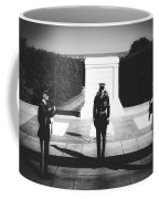 Changing Of The Guard At The Tomb Of The Unknowns At Arlington Coffee Mug