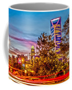 Charlotte City Skyline Early Morning At Sunrise Coffee Mug