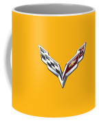 Chevrolet Corvette 3d Badge On Yellow Coffee Mug
