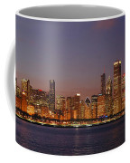 Chicago Skyline At Dusk Panorama Coffee Mug