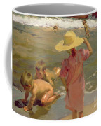 Children On The Seashore Coffee Mug by Joaquin Sorolla y Bastida