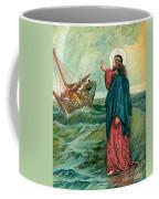 Christ Walking On The Sea Coffee Mug