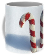 Christmas Candy Canes On Real Snow Coffee Mug