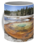 Chromatic Pool Hot Spring, Upper Geyser Coffee Mug by Richard Roscoe