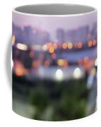 City Lights Bokeh Night Abstract Coffee Mug