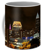 Colorful Sky Above The City On The Shore Coffee Mug