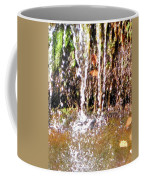 Close Up Of Waterfall Flowing Over Rocks  Coffee Mug