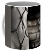 Closeup Of A Stomach With Decorative Rope Bondage Shibari Coffee Mug