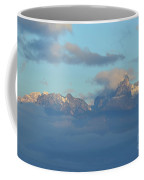 Cloudy Sky Surrounding The Dolomite Mountains In Italy  Coffee Mug