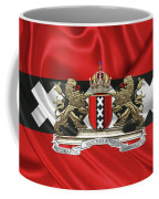 Coat Of Arms Of Amsterdam Over Flag Of Amsterdam Coffee Mug